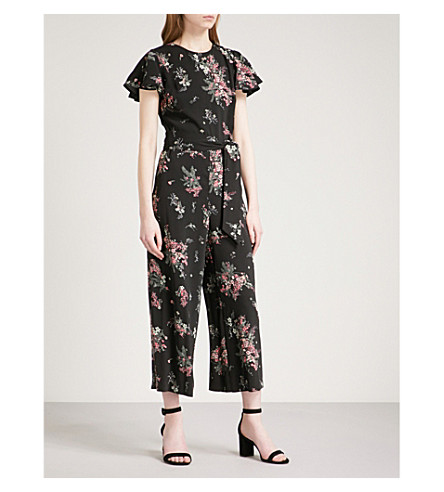 WAREHOUSE Marianne floral-print crepe jumpsuit (None
