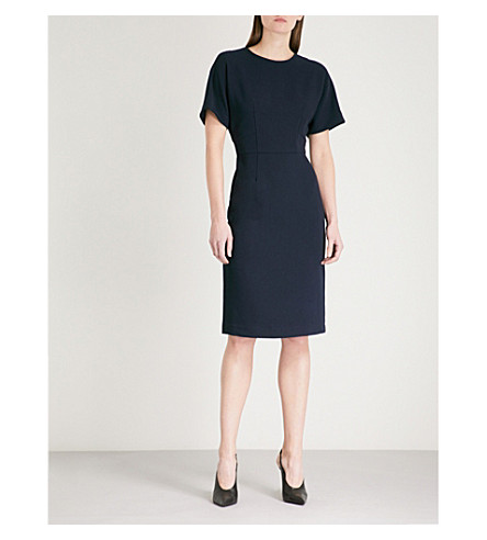 WAREHOUSE Belted woven dress (Navy