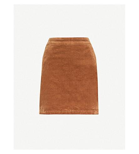 WAREHOUSE Corduroy mini skirt (Brown