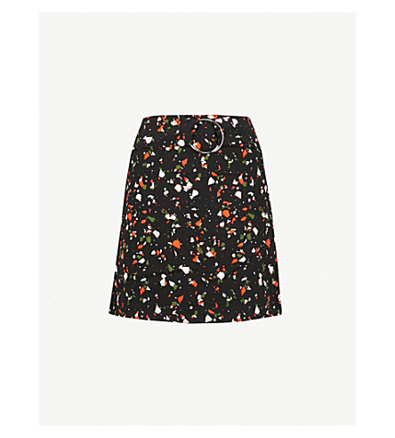 WAREHOUSE Granite print pelmet skirt (None