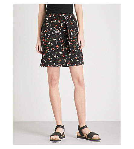 WAREHOUSE Granite print pelmet skirt (None