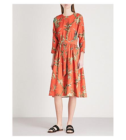 WAREHOUSE Songbird crepe midi dress (None