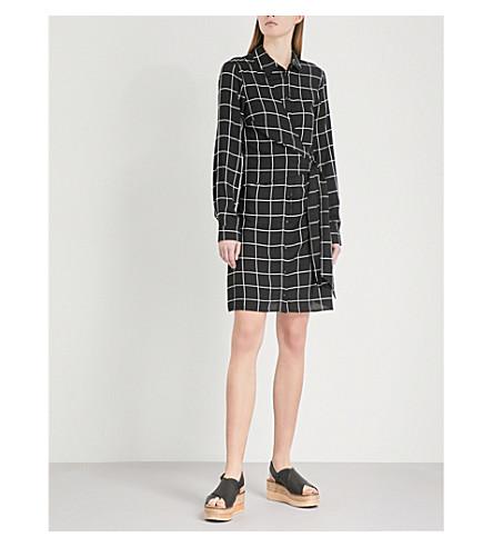 WAREHOUSE Checked woven shirt dress (Black