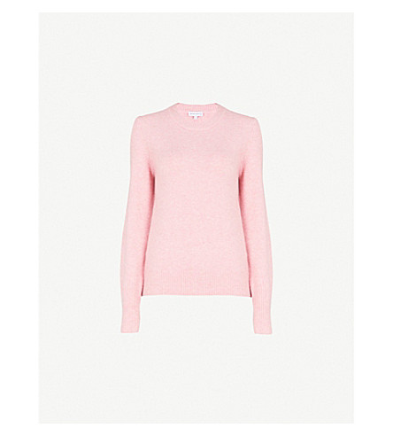 WAREHOUSE Crewneck knitted jumper (Pale+pink