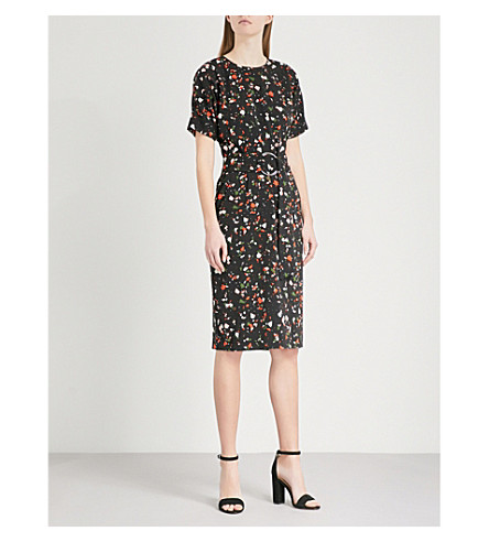 WAREHOUSE Granite-print woven dress (None