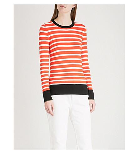 WAREHOUSE Breton block stripe jumper (Bright+orange