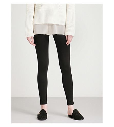 WAREHOUSE Zip-side jersey leggings (Black