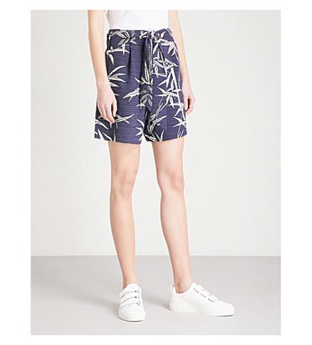 WAREHOUSE Bamboo-print woven shorts (None