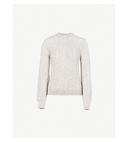 WAREHOUSE Pointelle knitted jumper (Grey