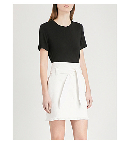 WAREHOUSE Smart-fit jersey T-shirt (Black