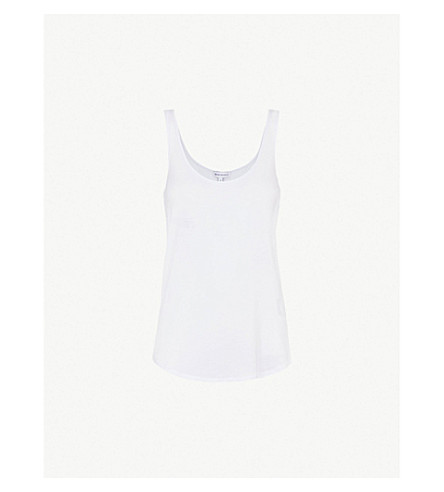 WAREHOUSE Swing jersey vest (White