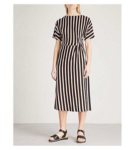 WAREHOUSE Striped twist jersey dress (None