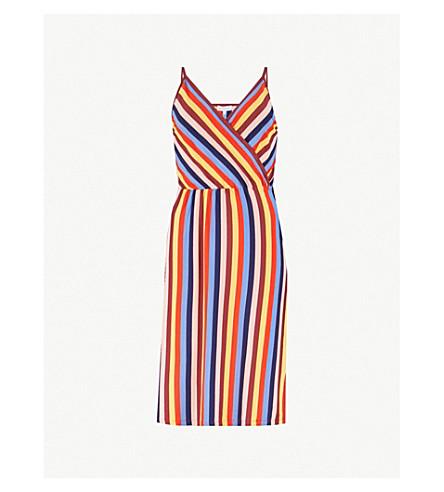 WAREHOUSE Rainbow striped stretch-jersey dress (None