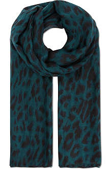 WAREHOUSE Animal-print scarf