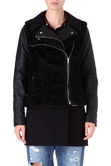 WAREHOUSE Five-way biker jacket