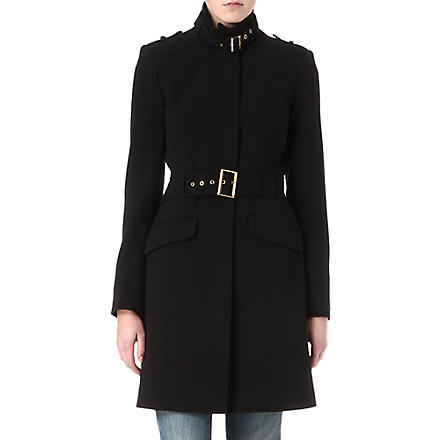 WAREHOUSE Crepe coat (Black