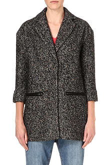WAREHOUSE Neon tweed coat