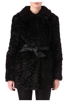 WAREHOUSE Faux-fur coat