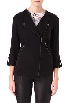 WAREHOUSE Longline soft biker jacket