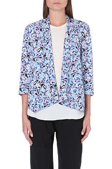 WAREHOUSE Drawn floral drape front jacket
