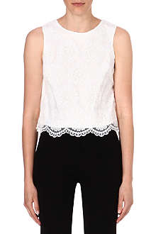 WAREHOUSE Organza lace top