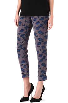 WAREHOUSE Pyjama floral-print trousers