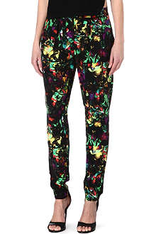 WAREHOUSE Tropical fluro-print trousers