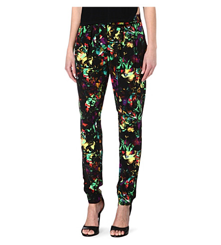 WAREHOUSE Tropical fluro-print trousers (Multi