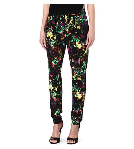 WAREHOUSE Tropical fluro-print trousers (Multi