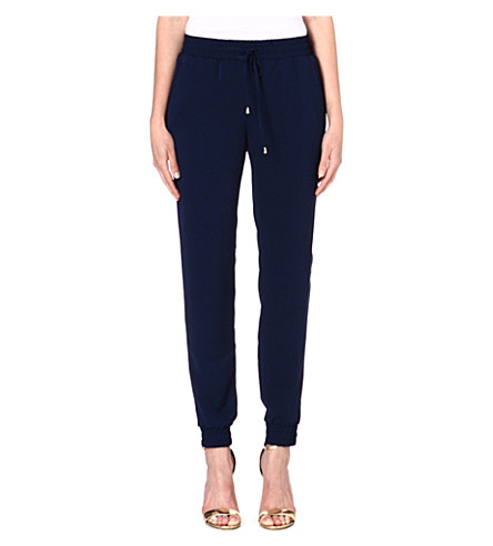 WAREHOUSE Tailored jogging bottoms (Navy