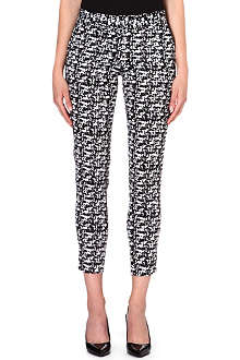WAREHOUSE Scratchy print trousers