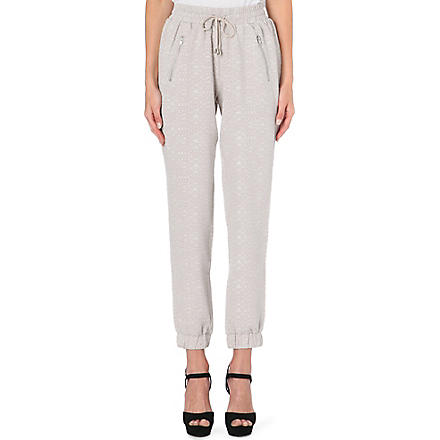 WAREHOUSE Textured jogging bottoms (Stone
