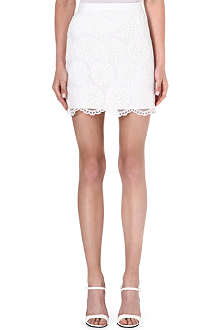 WAREHOUSE Lace mini skirt