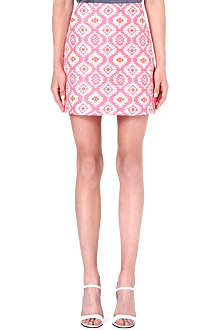 WAREHOUSE Neon Aztec skirt
