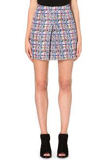 WAREHOUSE Pleat-detail checked skirt