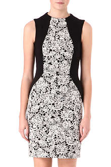 WAREHOUSE Panelled lace dress
