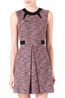 WAREHOUSE Pleated tweed dress