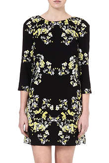 WAREHOUSE Floral-print jersey dress