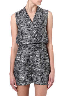 WAREHOUSE Tweed playsuit