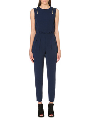 WAREHOUSE Zip-detail jumpsuit