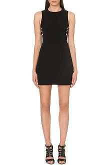 WAREHOUSE Button-detail stretch-crepe dress