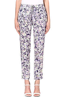 WAREHOUSE Fluro pansy-print trousers