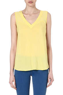 WAREHOUSE Chiffon mix vest