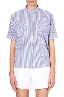 WAREHOUSE Stripe oversize shirt
