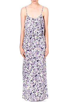 WAREHOUSE Fluro pansy-print maxi dress