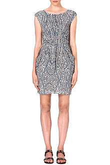 WAREHOUSE Paisley dipped hem dress