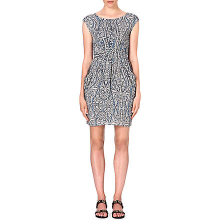 WAREHOUSE Paisley dipped hem dress (Multi