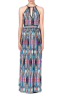 WAREHOUSE Linea Aztec maxi dress