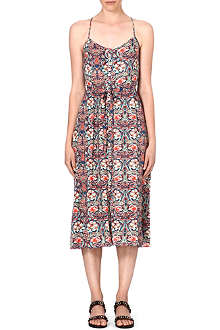 WAREHOUSE Bright floral midi dress