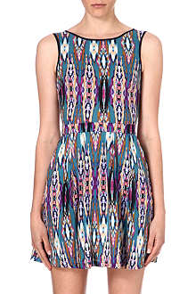 WAREHOUSE Linea aztec-print skater dress